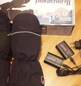 Комплект: рукавицы с подогревом+ аккумуляторы.