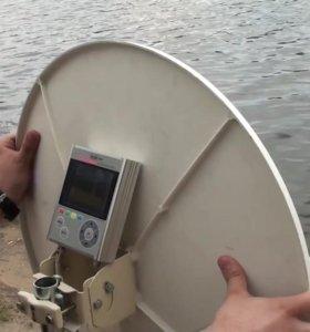 Настойка, монтаж, реализация спутниковых антенн.