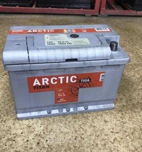 Продам аккумулятор 75 ач ARCTIC пуск 750