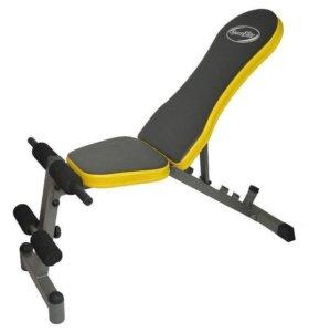 Скамья для пресса и упражнений с гантелями .