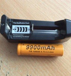 Аккумулятор 18650 с зарядкой