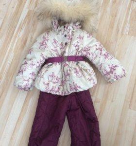 Куртка и штаны зимние на овчине и натуральный мех.