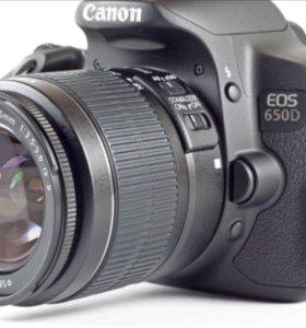 Фотоаппарат профессиональный Canon EOS 650D Kit