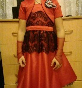 Красивое платье для девочки 4-6 лет