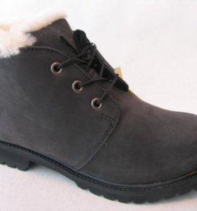 Ботинки Зимние Timberland Мех Нубук Н.Ч.О.42