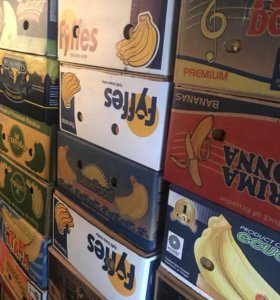 Коробки банановые,пластиковые