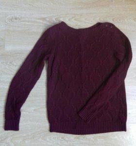 Бордовый свитер / джемпер O'stin