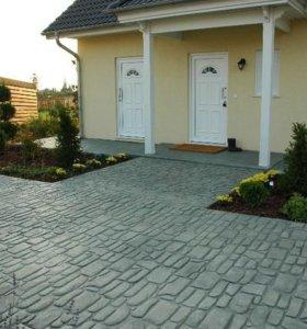 Пресс-бетон вместо тротуарной плитки