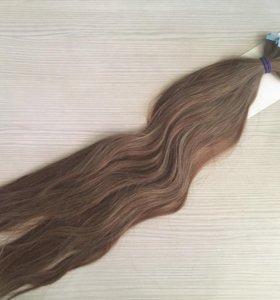 Натуральные волосы на ленте