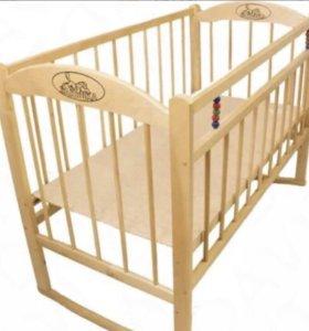 Детская кроватка с матрасом (новая)