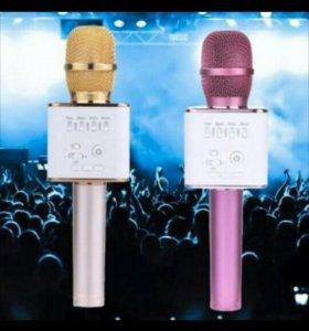 Караоке-микрофон со встроенной колонкой