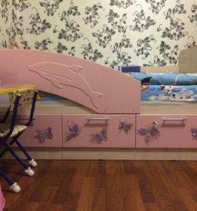 Детская кровать Дельфин 1,6