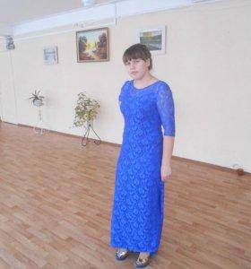 платье длинное в пол с шлейфом