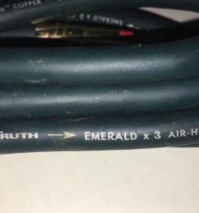 RCA-кабель Adio Truth Emerald x3(made in USA) 1.0m