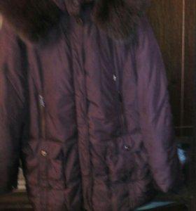 Пуховик женский зима 52-54