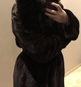 Норковая шуба Black Lama