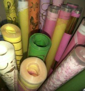 Упаковочная плёнка для цветов, лента, бумага