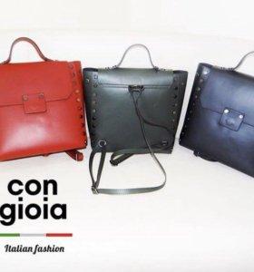 Продам кожаный рюкзак новый. Италия.