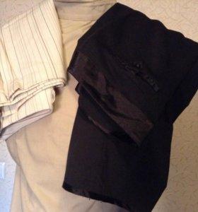 Бриджи светлые и брюки черные