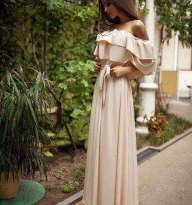 🌸Нежное платье в пол с воланом🌸