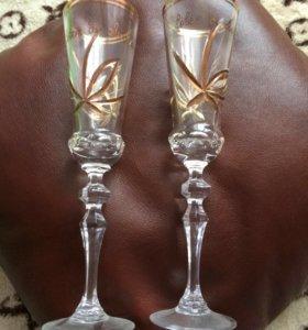 Хрустальные бокалы (свадьба)