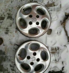 Литые диски r14 пежо 206 только 2 шт