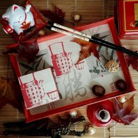 Поднос для чая и шкатулка в китайском стиле