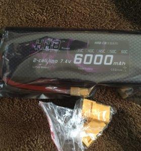 Аккумулятор для RC авто. HRB 6000mAh. Новый.