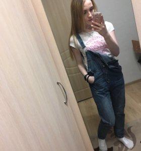 Джинсовый комбинезон, джинсы бойфренды