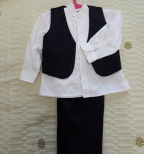 Костюм тройка+рубашка белая