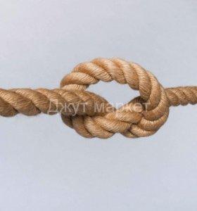 Веревка джутовая для когтеточки 50 метров