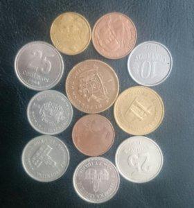 Монеты разных стран южной Америки