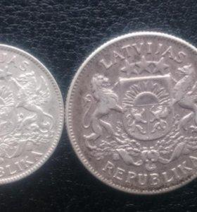 Серебряные монеты старой Латвии