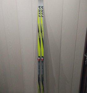 Лыжи Tisa TOP skate 200 с креплениями SNS