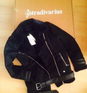 Авиаторская дублёнка Stradivarius