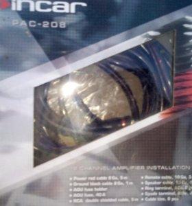 автомобильный усилитель CALCELL 100.2 и сабвуфер