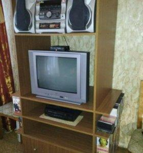 Тумба,телевизор,муз центр