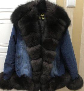 Куртка с мехом из песца в наличии