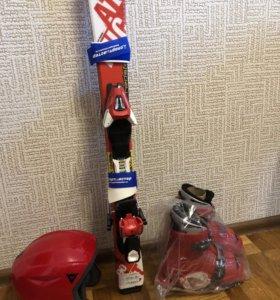ДетГорнолыжный комплект: Лыжи Atomic +ботинки+шлем