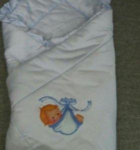 Одеяло-конверт на выписку и для прогулок