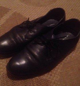 Кожанные ботинки 42 р