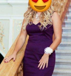 Платье guess фиолетовое новое