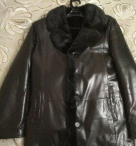 Куртка зимняя мужская кожаная