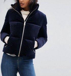 Бархатная пуховая куртка Tommy Hilfiger