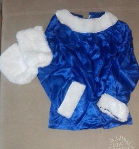 Рубашка и меховые гольфы для хантейского танца