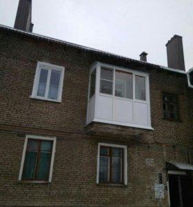 Балкон +крыша на последнем этаже.