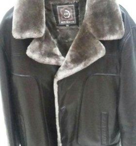 Зимняя мужская куртка дубленка