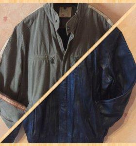 Куртка кожаная, куртка текстильная тёплая