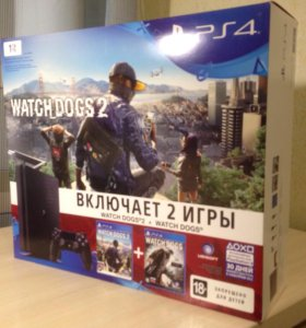 "PlayStation4 1Tb, ""Watch Dogs1"", ""Watch Dogs 2""."