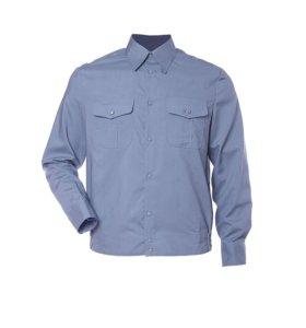 Форменная рубашка синего и белого цвета
